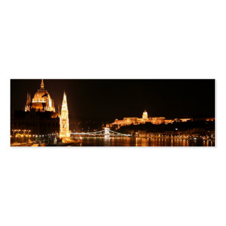 Budapest at Night Business Card Template