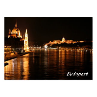 Budapest at night showing the Chain Bridge Large Business Card