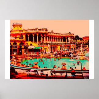 Budapest Baths Poster