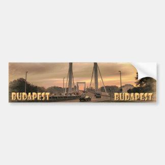 Budapest Etiqueta De Parachoque