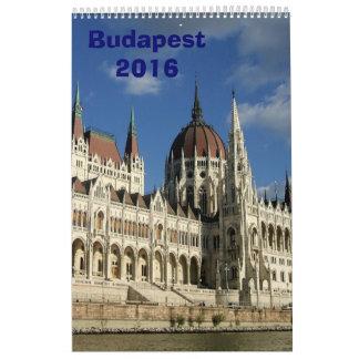 Budapest Calendar - 2016