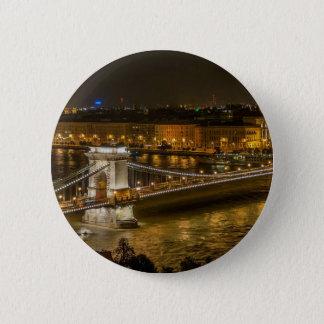 Budapest Chain Bridge Pinback Button