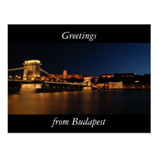 Budapest Chain bridge Postcard