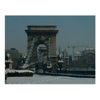 Budapest - Chain Bridge Postcard