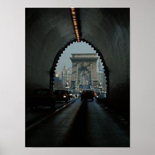 Budapest Chain Bridge Poster