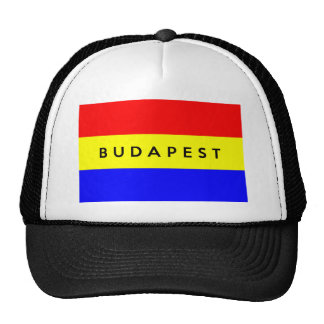 budapest city flag hungary symbol name text trucker hat