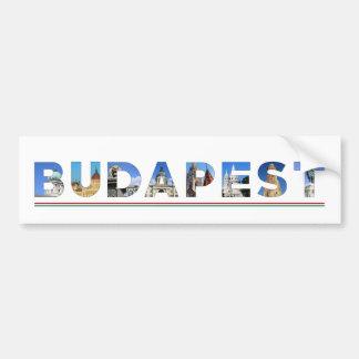 budapest city hungary landmark inside name text bumper sticker