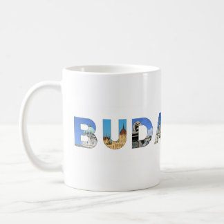 budapest city hungary landmark inside name text coffee mug