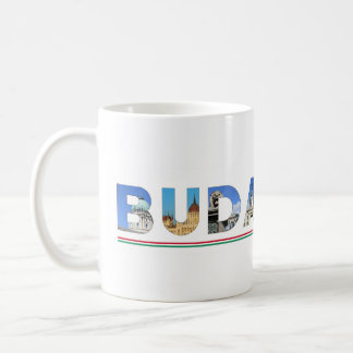 budapest city hungary landmark inside name text coffee mug