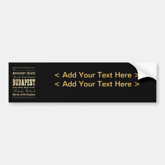 Budapest City of Hungary Typography Art Bumper Sticker