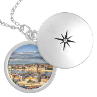 Budapest City View Locket Necklace