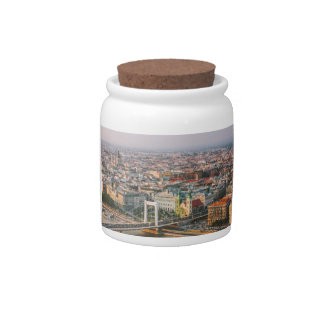 Budapest Cityscape At Sunset Candy Dishes