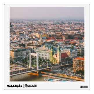 Budapest Cityscape At Sunset Wall Sticker