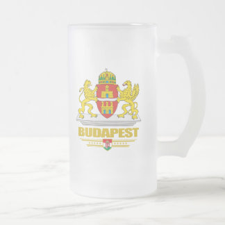 Budapest COA 16 Oz Frosted Glass Beer Mug