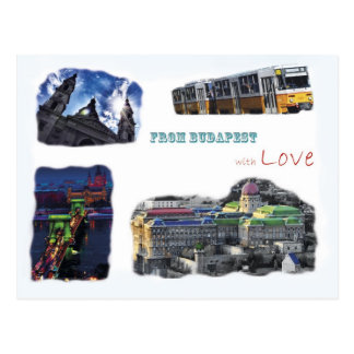 Budapest collage postcard