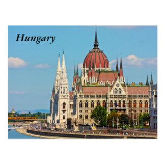 Budapest, el edificio del parlamento, Hungría Postales