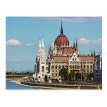 Budapest, el edificio del parlamento tarjeta postal