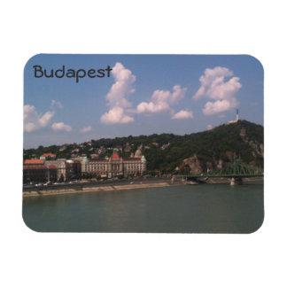 Budapest - Gellert hill and bath andLiberty Bridge Magnet