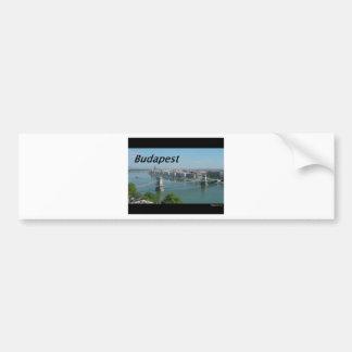 Budapest-horizonte. [kan.k] etiqueta de parachoque