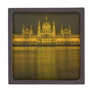 Budapest hungarian parliament building premium trinket box