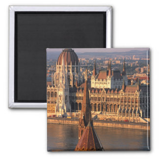 Budapest, Hungary, Danube River, Parliament 2 Inch Square Magnet