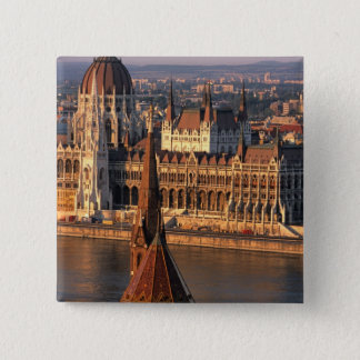 Budapest, Hungary, Danube River, Parliament Button