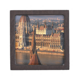 Budapest, Hungary, Danube River, Parliament Keepsake Box