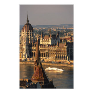 Budapest, Hungary, Danube River, Parliament Photo Print
