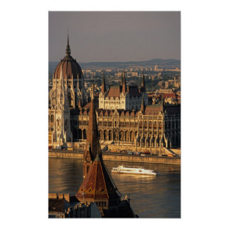 Budapest, Hungary, Danube River, Parliament Poster