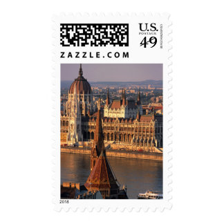 Budapest, Hungary, Danube River, Parliament Stamp