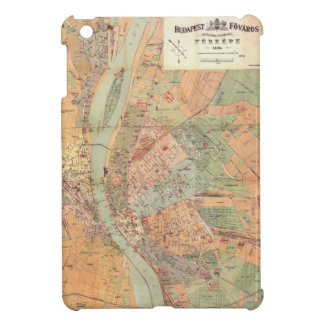 Budapest Hungary Map from 1884 iPad Mini Cover