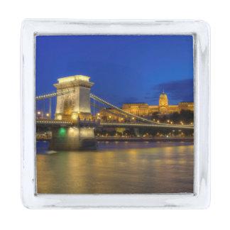 Budapest, Hungary Silver Finish Lapel Pin