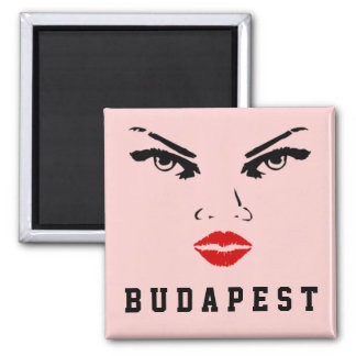 Budapest, Hungary Woman 2 Inch Square Magnet