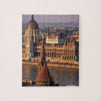 Budapest, Hungría, el río Danubio, el parlamento Puzzle