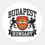Budapest Hungría Etiquetas Redondas