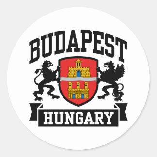 Budapest Hungría Pegatina Redonda