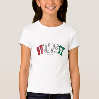 Budapest in Hungary national flag colors T-Shirt