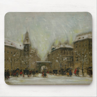 Budapest in the Snow Mouse Pad