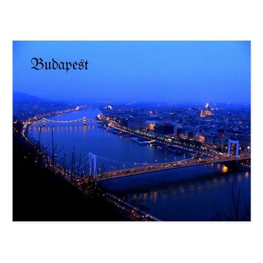 Budapest kilato, Budapest postcard  Danube