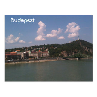 Budapest - Liberty Bridge and Gellert Hill Postcard