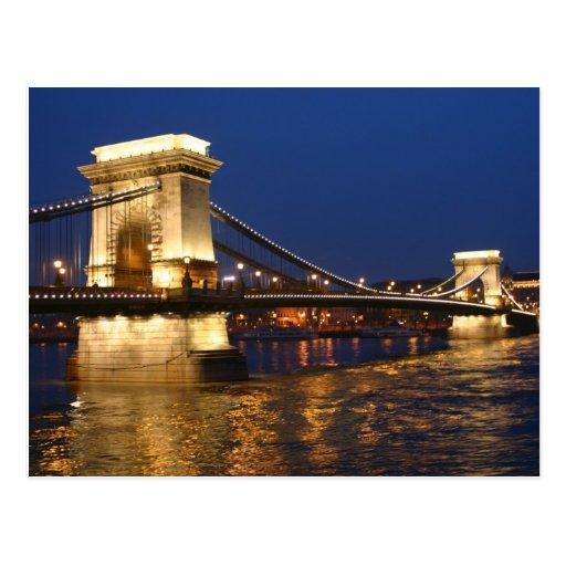 Budapest main bridge postcards