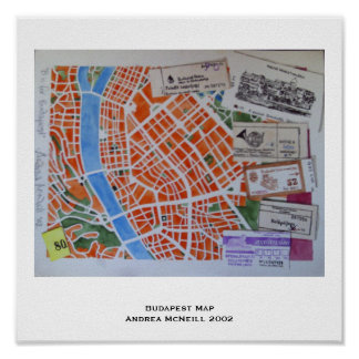 Budapest map poster