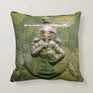 budapest museum hungary ceramic tile seal history throw pillow