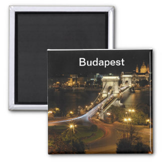 Budapest nightscape 2 inch square magnet