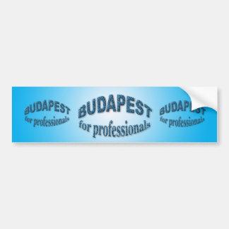 Budapest para los profesionales pegatina de parachoque