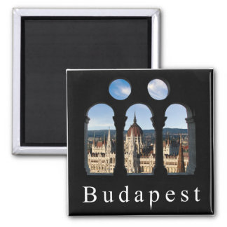 Budapest Parliament 2 Inch Square Magnet