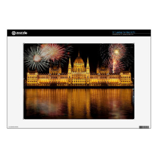 "Budapest Parliament Hungary with fireworks 13"" Laptop Skins"