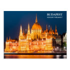 Budapest Parliament in night Postcard
