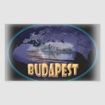 Budapest Pegatina Rectangular