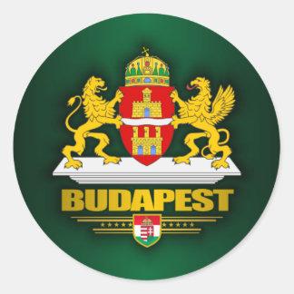 Budapest Pegatina Redonda